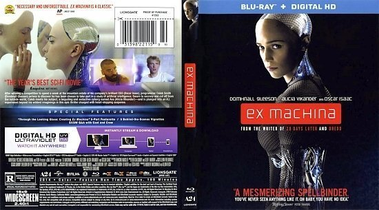 dvd cover exmachina br