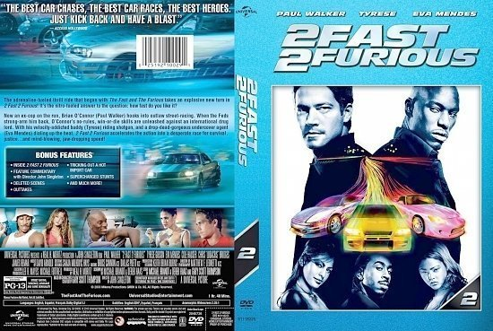 dvd cover 2 Fast 2 Furious