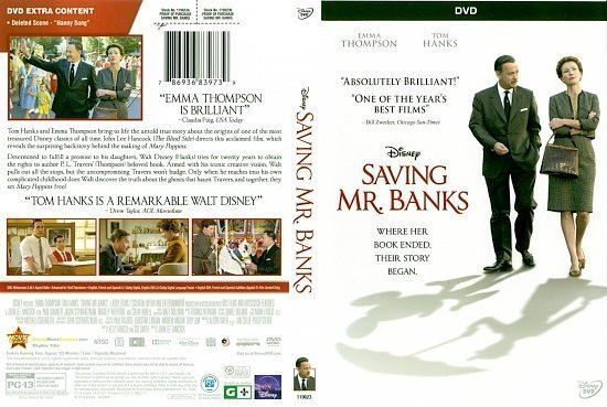 dvd cover Saving Mr Banks Scanned