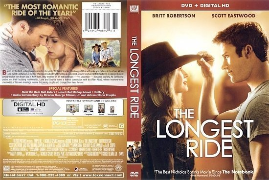 dvd cover Longest Ride front