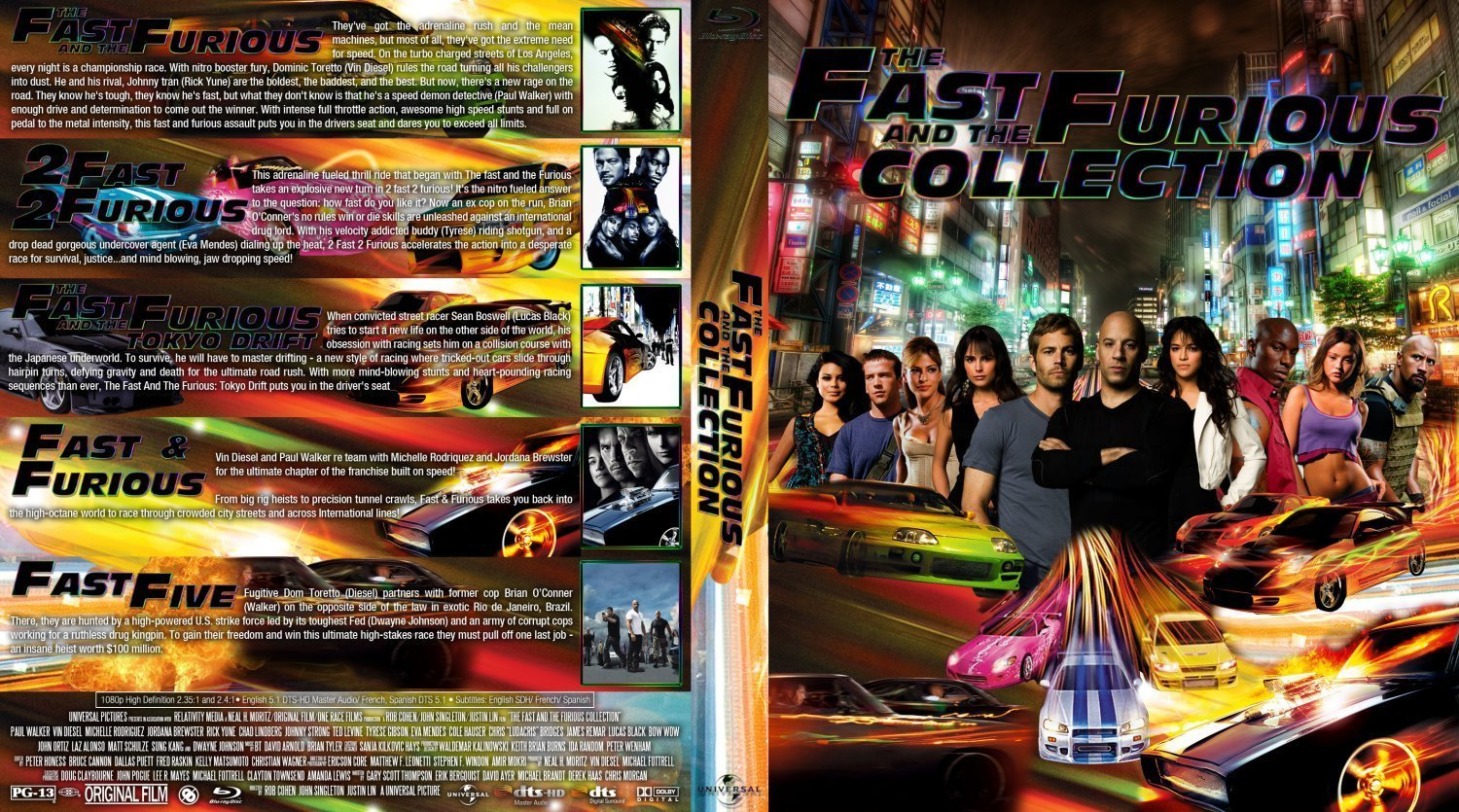 the fast and the furious collection dvd covers and labels. Black Bedroom Furniture Sets. Home Design Ideas