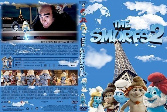 dvd cover Smurfs 2