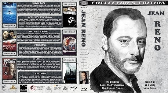 dvd cover Jean Reno Collection