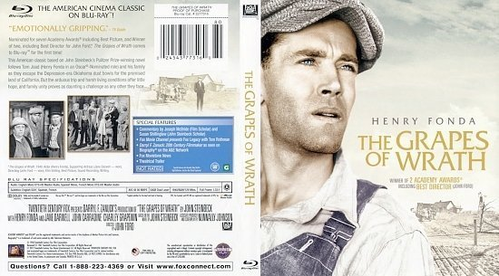 dvd cover The Grapes Of Wrath BR