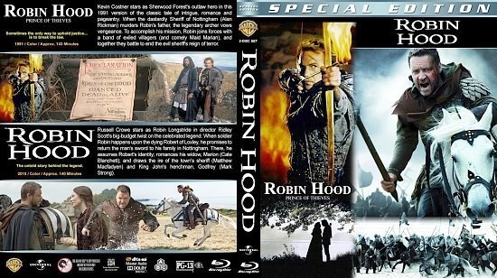 dvd cover Robin Hood Double Feature version 1