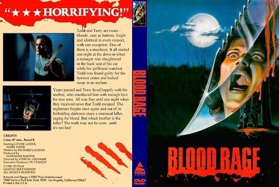 dvd cover Blood Rage