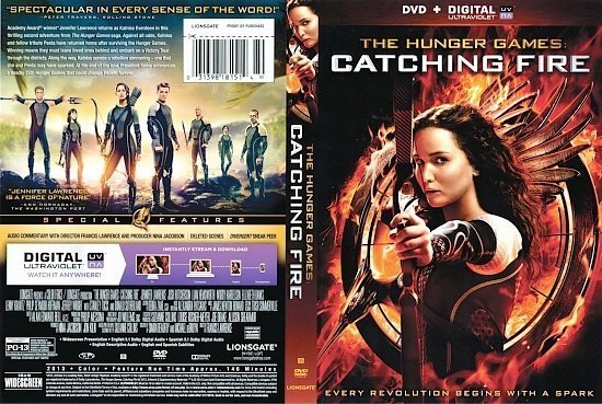 dvd cover The Hunger Games Catching Fire Scanned