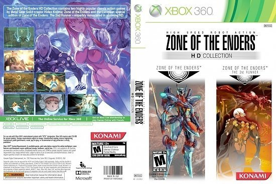 dvd cover Zone Of The Enders HD Collection