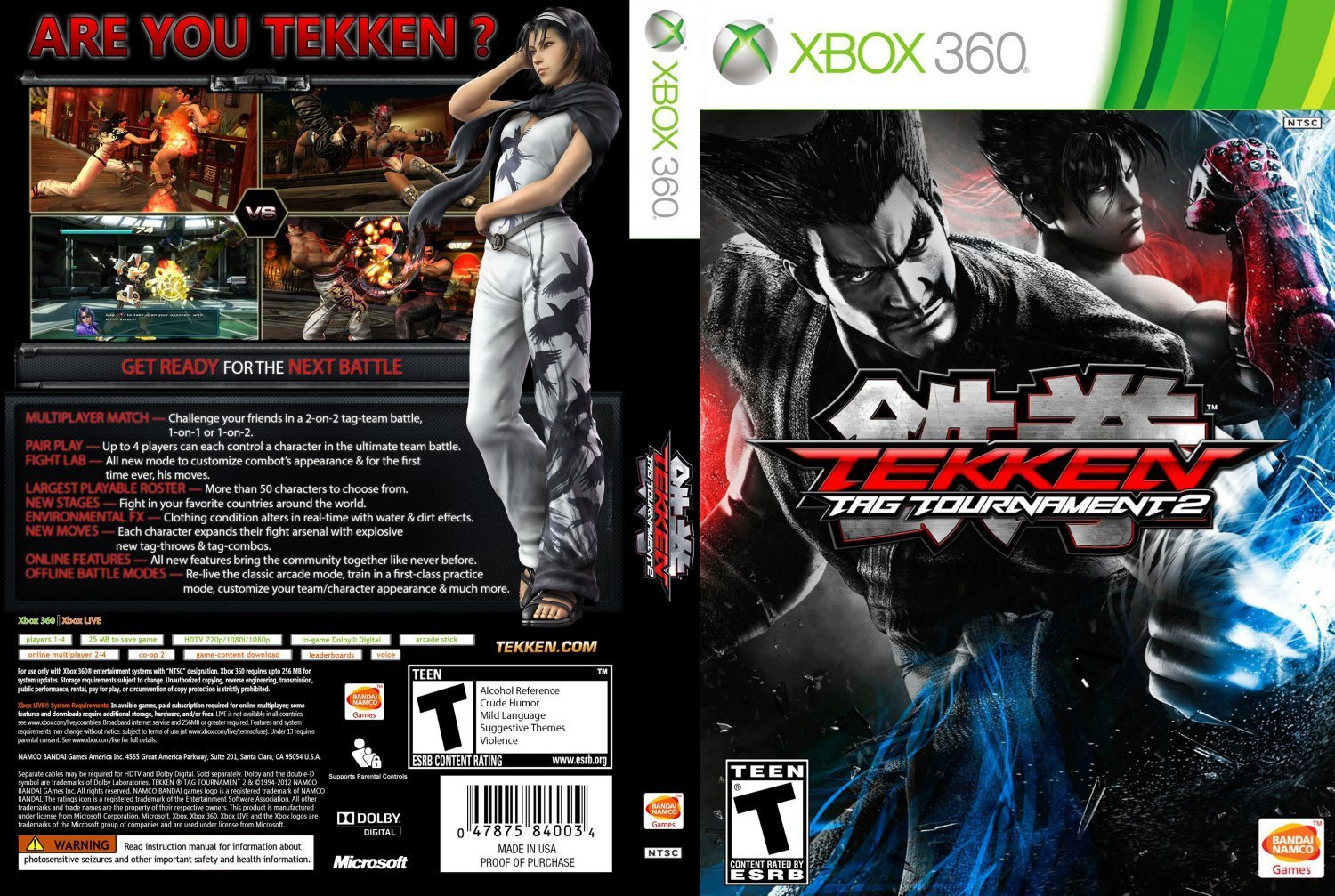 Tekken Tag Tournament 2 | Dvd Covers and Labels
