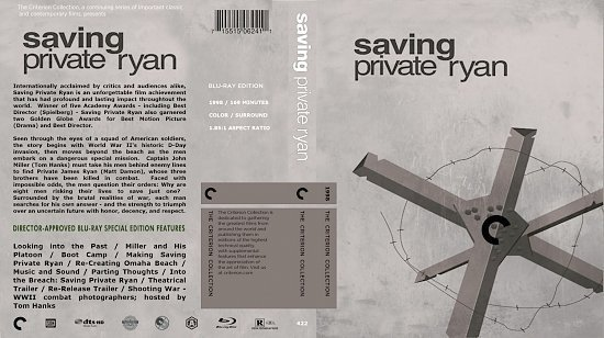 dvd cover Saving Private Ryan