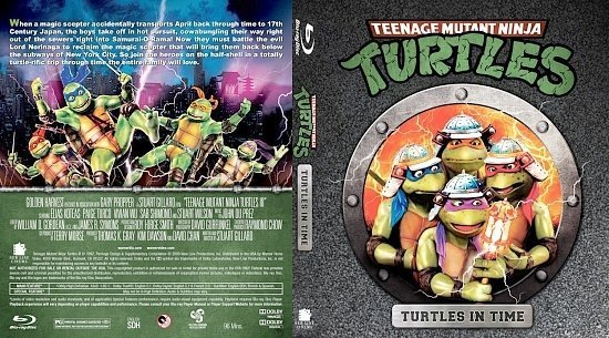 dvd cover Teenage Mutant Ninja Turtles III