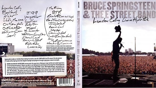 dvd cover Bruce Springsteen & the E Street Band: London Calling LIVE in Hyde Park (2010)