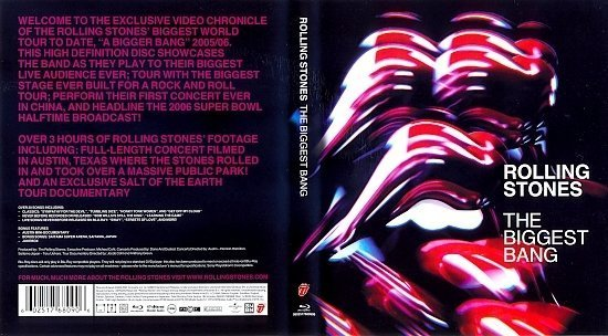dvd cover Rolling Stones: The Biggest Bang (2009) Blu-Ray Cover