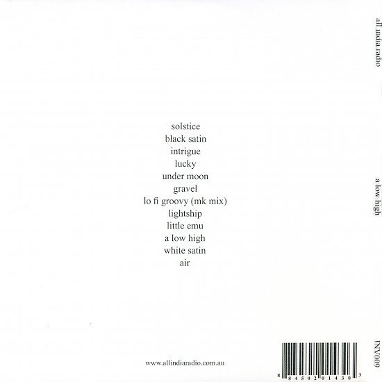 dvd cover All India Radio - A Low High (2009)