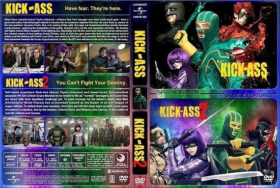 dvd cover Kick Ass Double Feature