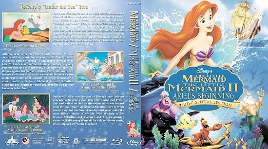 dvd cover The Little Mermaid Triple Feature