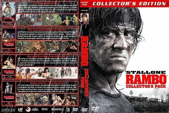 dvd cover Rambo Collector's Pack