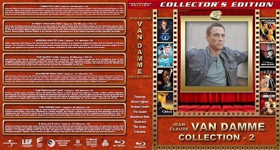 dvd cover Jean Claude Van Damme Collection 2