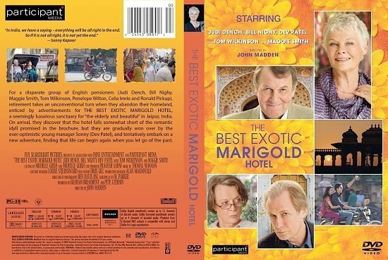 dvd cover Best Exotic Marigold Hotel 2011 R1 CUSTOM cover