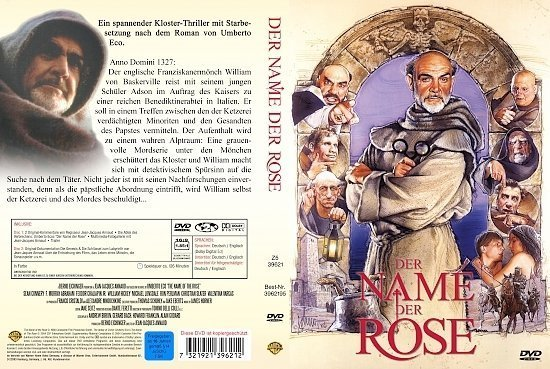 dvd cover Der Name der rose (1986) R2 German