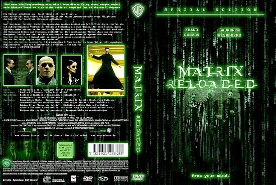 dvd cover Matrix Reloaded (2003) R2 German