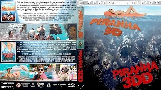 dvd cover Piranha Double Feature