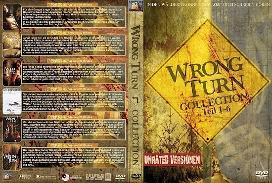 dvd cover Wrong Turn Collection (1-6) R2 GERMAN