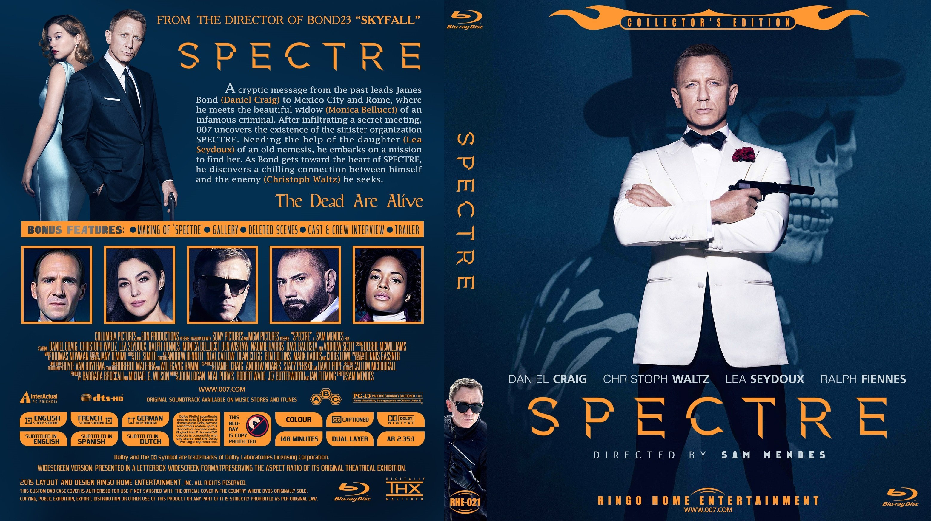Spectre Custom Blu Ray Cover Dvd Covers And Labels