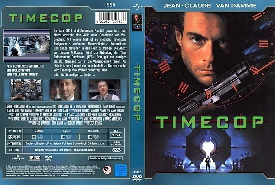 dvd cover Timecop (Jean-Claude Van Damme Collection) (1994) R2 German