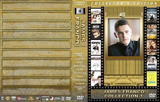 dvd cover James Franco Collection