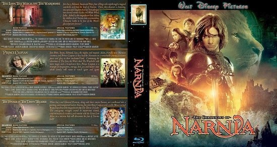 dvd cover Chronicles Of Narnia Trilogy