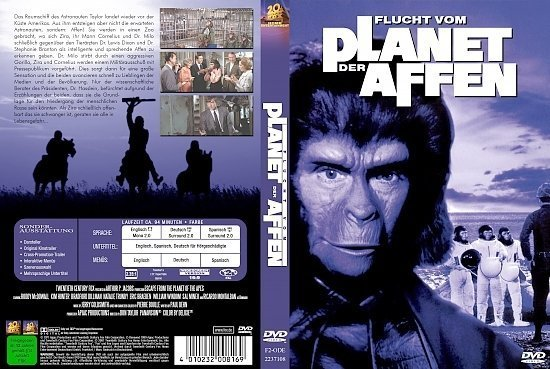 dvd cover Flucht vom Planet der Affen (1971) R2 German