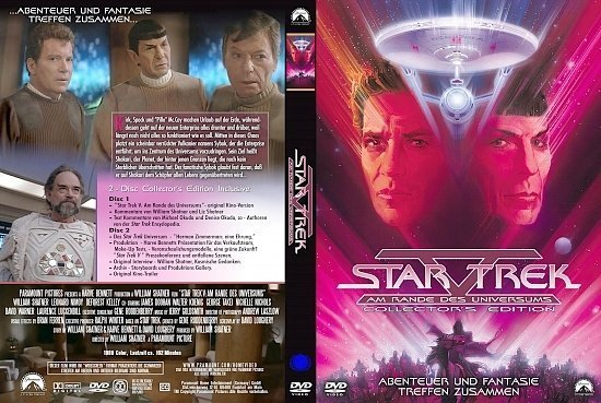 dvd cover Star Trek 5: Am Rande des Universums (1989) R2 German