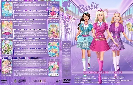 dvd cover Barbie Collection Set 3 3370 x 2175