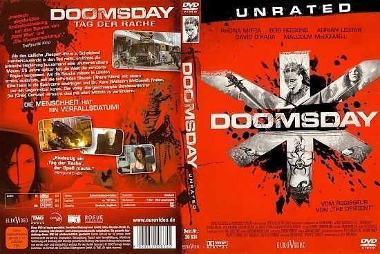 dvd cover Doomsday UNRATED (2008) R2 GERMAN