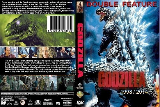 dvd cover Godzilla (Double Feature) (1998-) R1 Custom
