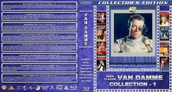 dvd cover Jean Claude Van Damme Collection 1