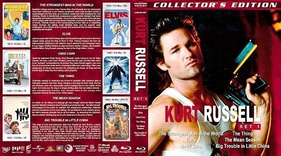 dvd cover Kurt Russell Collection Set 1