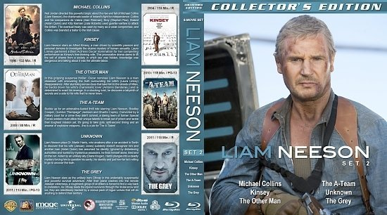 dvd cover Liam Neeson Collection Set 2