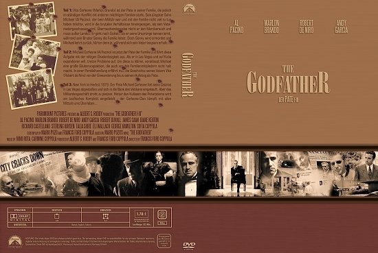 dvd cover Der Pate: Die Corleone Saga (Gangster Collection) (2004) R2 German