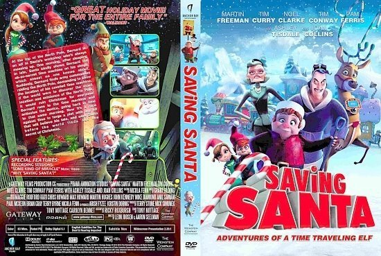 dvd cover Saving Santa