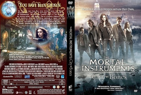 dvd cover Mortal Instruments City Of Bones