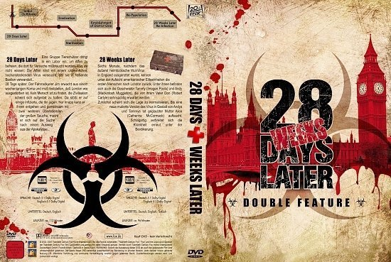 dvd cover 28 Days/Weeks Later Double Feature (2002 + 2007) R2 GERMAN