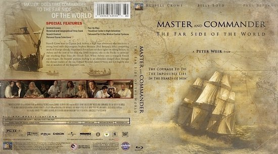 dvd cover Master And Commander The Far Side Of The World
