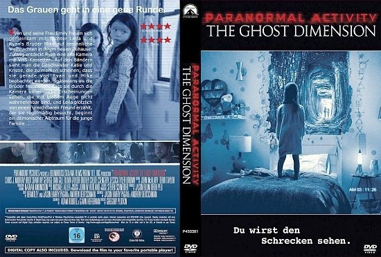 dvd cover Paranormal Activity Ghost Dimension CUSTOM GERMAN