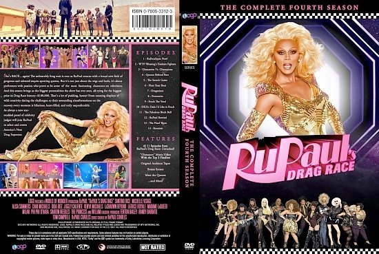 dvd cover RuPaul's Drag Race The Complete Fourth Season