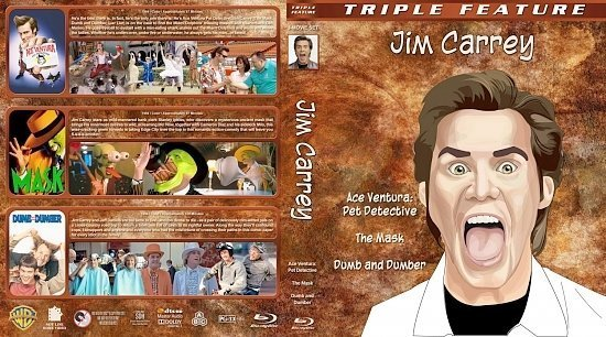 dvd cover Jim Carrey Triple Feature