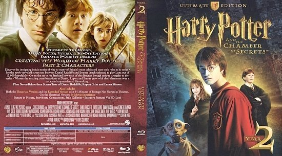 dvd cover HarryPotter Chamber UE BD cover