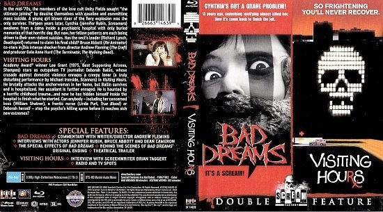 dvd cover Bad Dreams - Visiting Hours (1988) Blu-Ray Cover+Label