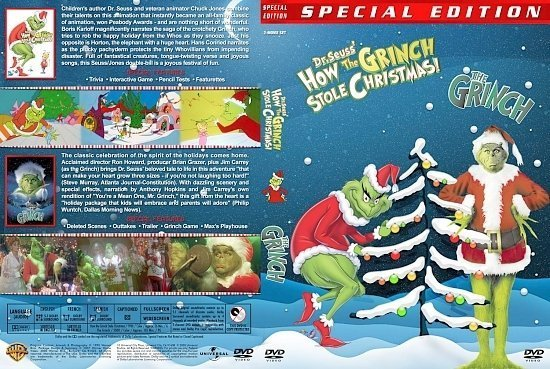 dvd cover How The Grinch Stole Christmas / The Grinch Double Feature